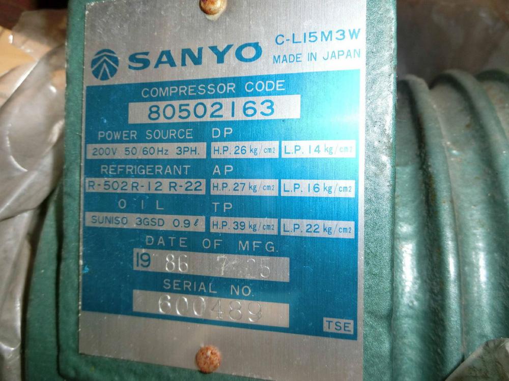 三洋電機半密閉圧縮機-2